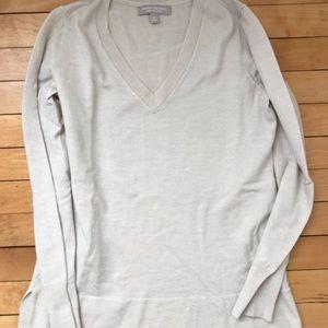 Banana Republic Extra-Fine Merino V-Neck Sweater-S